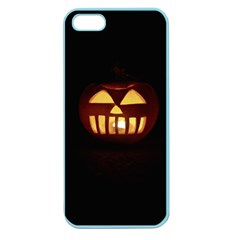 Funny Spooky Scary Halloween Pumpkin Jack O Lantern Apple Seamless Iphone 5 Case (color) by HalloweenParty