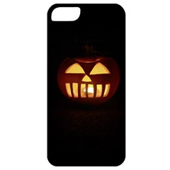 Funny Spooky Scary Halloween Pumpkin Jack O Lantern Apple Iphone 5 Classic Hardshell Case