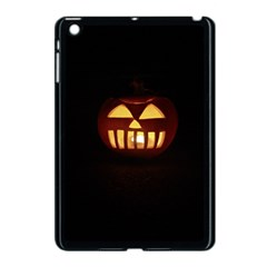 Funny Spooky Scary Halloween Pumpkin Jack O Lantern Apple Ipad Mini Case (black)
