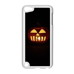 Funny Spooky Scary Halloween Pumpkin Jack O Lantern Apple Ipod Touch 5 Case (white)