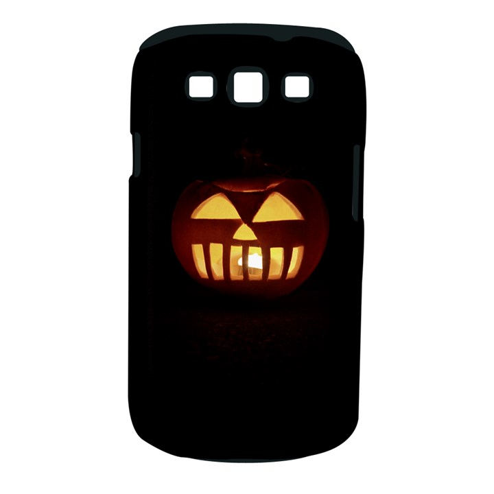 Funny Spooky Scary Halloween Pumpkin Jack O Lantern Samsung Galaxy S III Classic Hardshell Case (PC+Silicone)