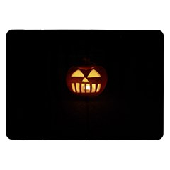 Funny Spooky Scary Halloween Pumpkin Jack O Lantern Samsung Galaxy Tab 8 9  P7300 Flip Case by HalloweenParty