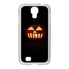 Funny Spooky Scary Halloween Pumpkin Jack O Lantern Samsung Galaxy S4 I9500/ I9505 Case (white) by HalloweenParty