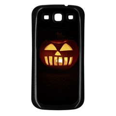 Funny Spooky Scary Halloween Pumpkin Jack O Lantern Samsung Galaxy S3 Back Case (black)