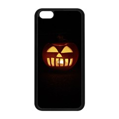 Funny Spooky Scary Halloween Pumpkin Jack O Lantern Apple Iphone 5c Seamless Case (black) by HalloweenParty