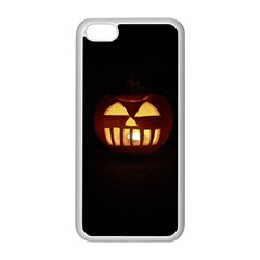 Funny Spooky Scary Halloween Pumpkin Jack O Lantern Apple Iphone 5c Seamless Case (white) by HalloweenParty