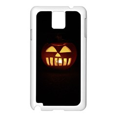 Funny Spooky Scary Halloween Pumpkin Jack O Lantern Samsung Galaxy Note 3 N9005 Case (white)