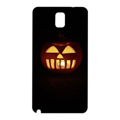 Funny Spooky Scary Halloween Pumpkin Jack O Lantern Samsung Galaxy Note 3 N9005 Hardshell Back Case by HalloweenParty