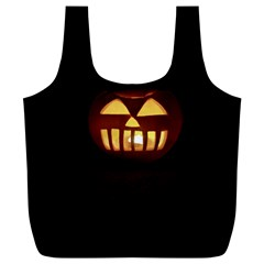 Funny Spooky Scary Halloween Pumpkin Jack O Lantern Full Print Recycle Bag (xl) by HalloweenParty