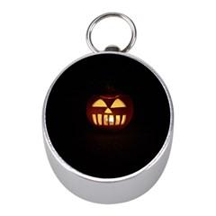 Funny Spooky Scary Halloween Pumpkin Jack O Lantern Mini Silver Compasses