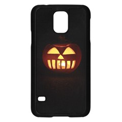 Funny Spooky Scary Halloween Pumpkin Jack O Lantern Samsung Galaxy S5 Case (black) by HalloweenParty
