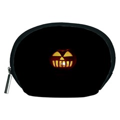 Funny Spooky Scary Halloween Pumpkin Jack O Lantern Accessory Pouch (medium)