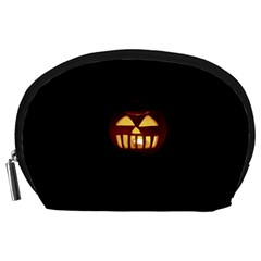 Funny Spooky Scary Halloween Pumpkin Jack O Lantern Accessory Pouch (large)