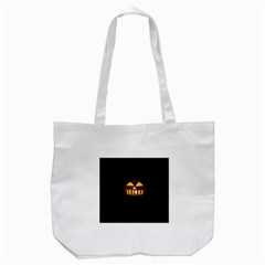 Funny Spooky Scary Halloween Pumpkin Jack O Lantern Tote Bag (white) by HalloweenParty