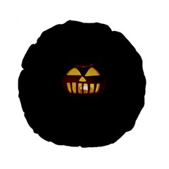 Funny Spooky Scary Halloween Pumpkin Jack O Lantern Standard 15  Premium Flano Round Cushions