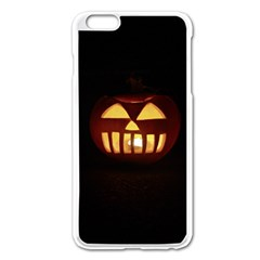 Funny Spooky Scary Halloween Pumpkin Jack O Lantern Apple Iphone 6 Plus/6s Plus Enamel White Case by HalloweenParty