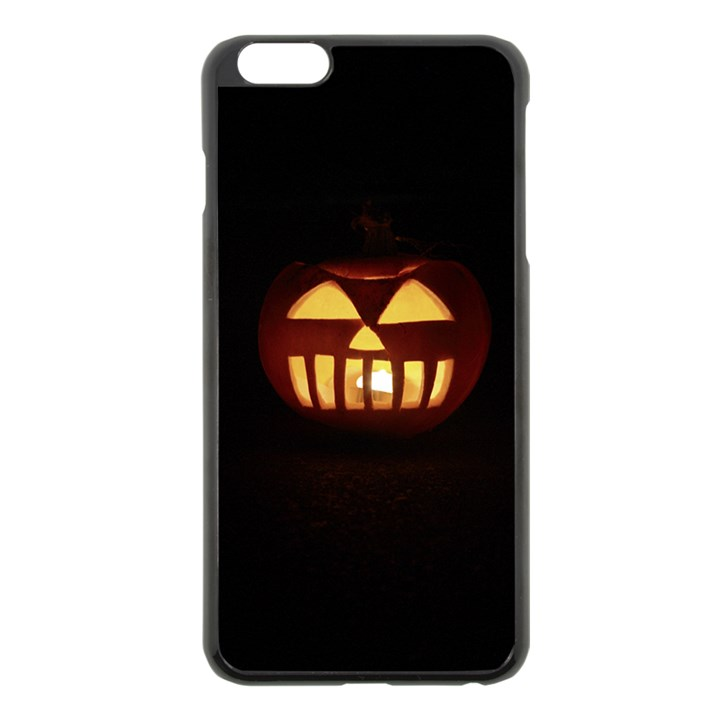 Funny Spooky Scary Halloween Pumpkin Jack O Lantern Apple iPhone 6 Plus/6S Plus Black Enamel Case