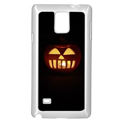 Funny Spooky Scary Halloween Pumpkin Jack O Lantern Samsung Galaxy Note 4 Case (white)