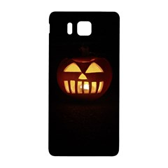 Funny Spooky Scary Halloween Pumpkin Jack O Lantern Samsung Galaxy Alpha Hardshell Back Case by HalloweenParty