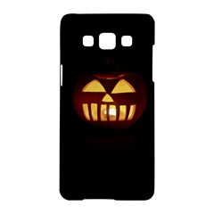 Funny Spooky Scary Halloween Pumpkin Jack O Lantern Samsung Galaxy A5 Hardshell Case  by HalloweenParty