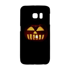 Funny Spooky Scary Halloween Pumpkin Jack O Lantern Samsung Galaxy S6 Edge Hardshell Case by HalloweenParty