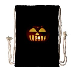 Funny Spooky Scary Halloween Pumpkin Jack O Lantern Drawstring Bag (large)