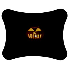 Funny Spooky Scary Halloween Pumpkin Jack O Lantern Jigsaw Puzzle Photo Stand (bow) by HalloweenParty