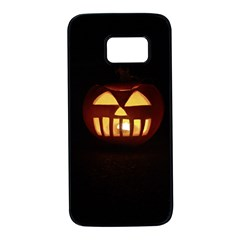 Funny Spooky Scary Halloween Pumpkin Jack O Lantern Samsung Galaxy S7 Black Seamless Case by HalloweenParty