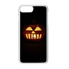 Funny Spooky Scary Halloween Pumpkin Jack O Lantern Apple Iphone 7 Plus Seamless Case (white) by HalloweenParty