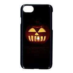 Funny Spooky Scary Halloween Pumpkin Jack O Lantern Apple Iphone 7 Seamless Case (black) by HalloweenParty