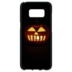 Funny Spooky Scary Halloween Pumpkin Jack O Lantern Samsung Galaxy S8 Black Seamless Case by HalloweenParty