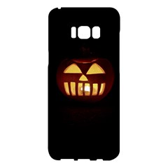 Funny Spooky Scary Halloween Pumpkin Jack O Lantern Samsung Galaxy S8 Plus Hardshell Case  by HalloweenParty