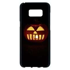 Funny Spooky Scary Halloween Pumpkin Jack O Lantern Samsung Galaxy S8 Plus Black Seamless Case by HalloweenParty