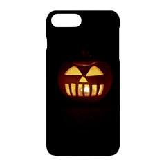 Funny Spooky Scary Halloween Pumpkin Jack O Lantern Apple Iphone 8 Plus Hardshell Case