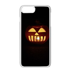 Funny Spooky Scary Halloween Pumpkin Jack O Lantern Apple Iphone 8 Plus Seamless Case (white)