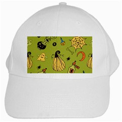 Funny Scary Spooky Halloween Party Design White Cap