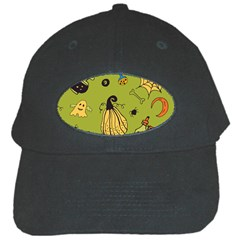 Funny Scary Spooky Halloween Party Design Black Cap by HalloweenParty