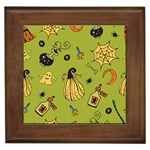 Funny Scary Spooky Halloween Party Design Framed Tiles Front