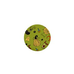 Funny Scary Spooky Halloween Party Design 1  Mini Buttons