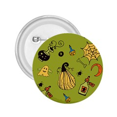Funny Scary Spooky Halloween Party Design 2 25  Buttons