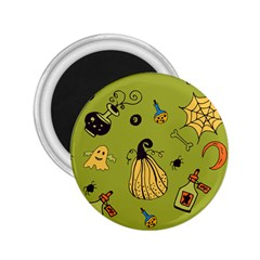 Funny Scary Spooky Halloween Party Design 2 25  Magnets