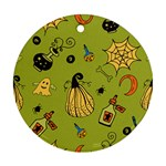 Funny Scary Spooky Halloween Party Design Ornament (Round) Front