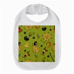 Funny Scary Spooky Halloween Party Design Bib Front
