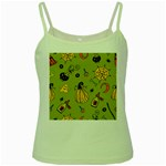 Funny Scary Spooky Halloween Party Design Green Spaghetti Tank Front