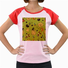 Funny Scary Spooky Halloween Party Design Women s Cap Sleeve T Shirt
