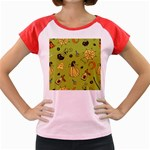 Funny Scary Spooky Halloween Party Design Women s Cap Sleeve T-Shirt Front
