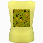 Funny Scary Spooky Halloween Party Design Women s Yellow Tank Top Back