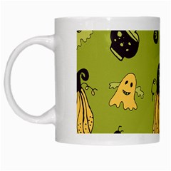 Funny Scary Spooky Halloween Party Design White Mugs