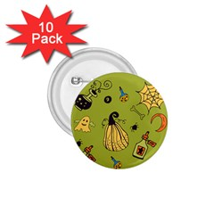 Funny Scary Spooky Halloween Party Design 1 75  Buttons (10 Pack)