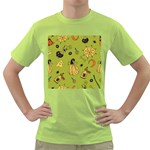 Funny Scary Spooky Halloween Party Design Green T-Shirt Front